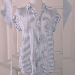 Striped American Eagle Women's button Up
